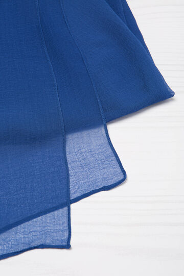 Solid colour lightweight scarf, Blue, hi-res