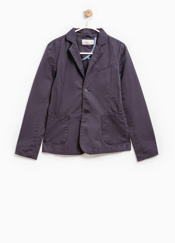 100% cotton jacket with two buttons | OVS