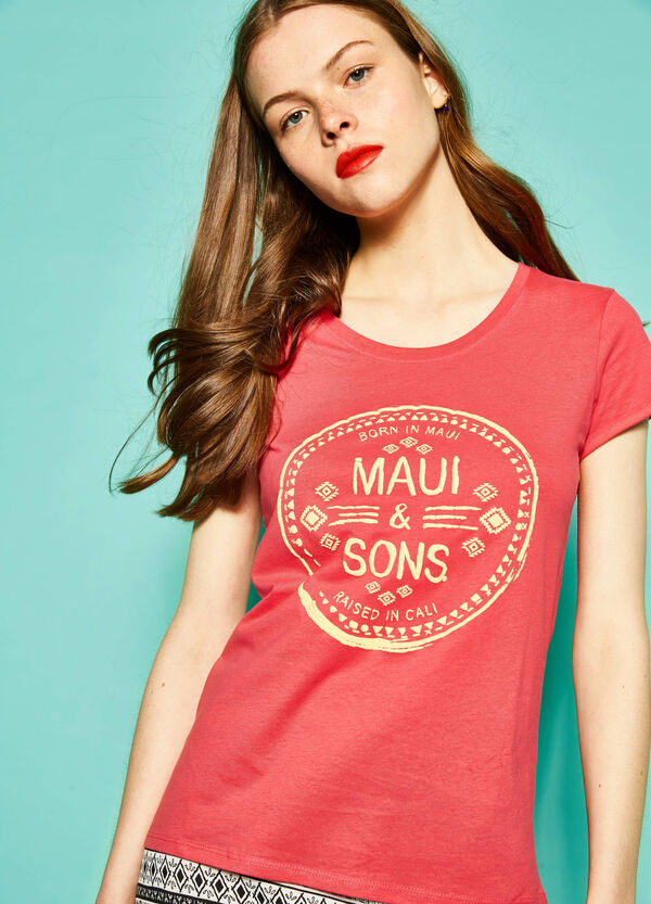 T-shirt with Maui and Sons print | OVS