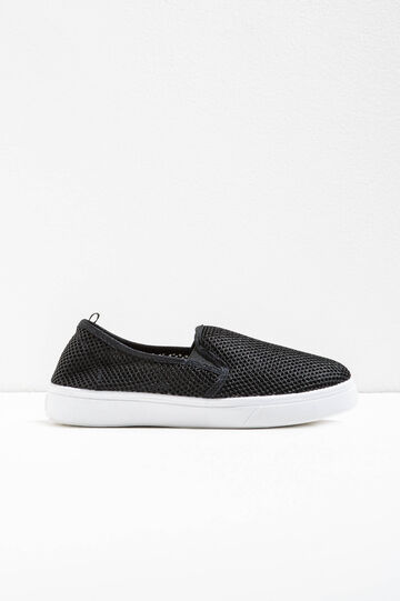 Slip-ons with mesh upper