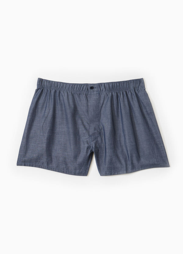 100% cotton boxer shorts with button | OVS