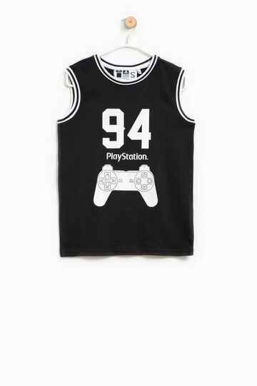 Cotton vest with PlayStation print