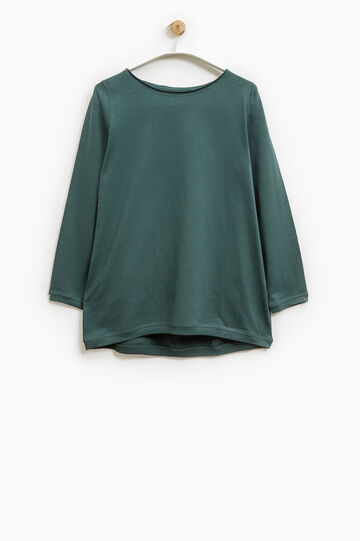 T-shirt maniche lunghe Smart Basic, Verde, hi-res