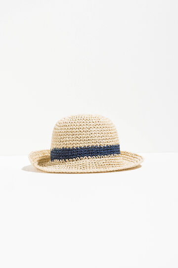 Wide-brimmed hat with insert