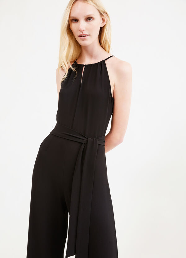 Sleeveless jumpsuit with tie | OVS