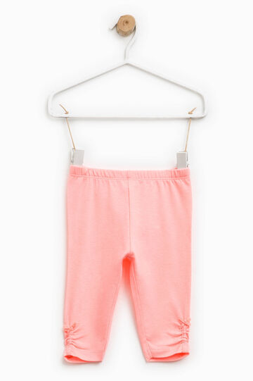 Cotton trousers with bow