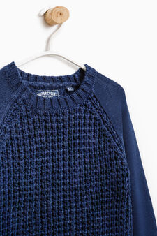 Chunky knit pullover, Navy Blue, hi-res
