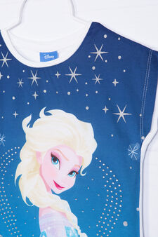 Frozen T-shirt in stretch cotton, White, hi-res