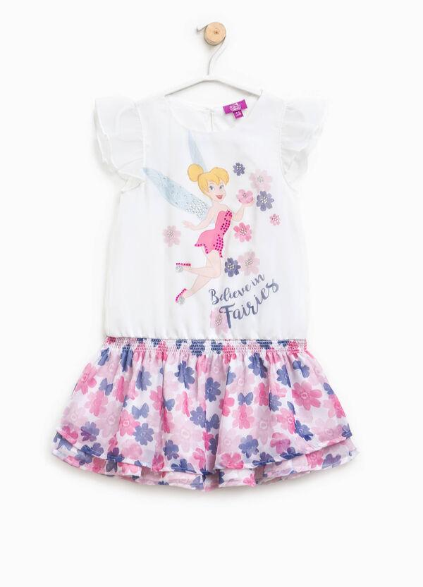 Dress with Tinkerbell print and flounced skirt | OVS