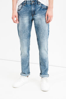 Skinny-fit, mis-dyed-effect jeans, Denim, hi-res