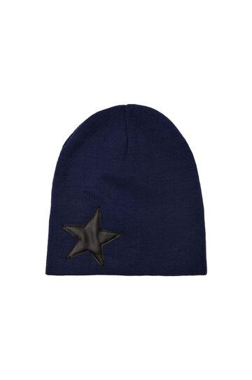 Cappello beanie tinta unita, Blu navy, hi-res