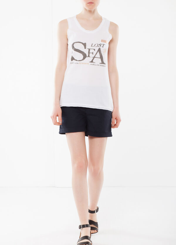 Top with breast pocket and rhinestones | OVS