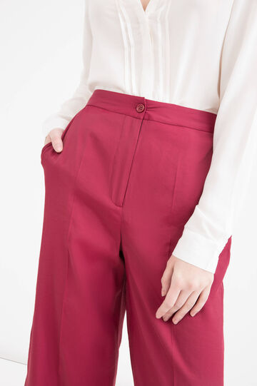 Gaucho pants with high waist, Claret Red, hi-res
