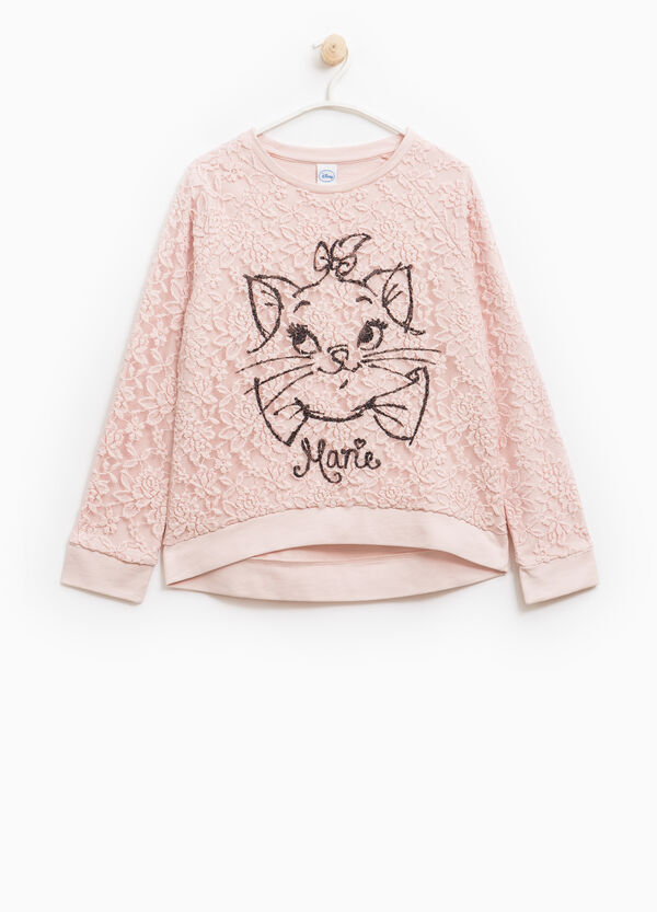 100% cotton sweatshirt with The Aristocats embroidery | OVS