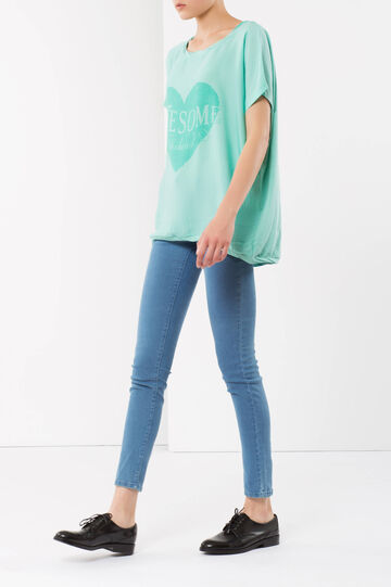 Printed T-Shirt, Aquamarine Blue, hi-res
