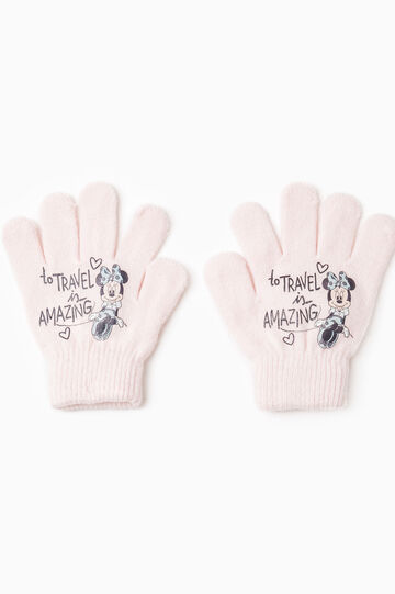 Gloves with Minnie Mouse print, Pink, hi-res