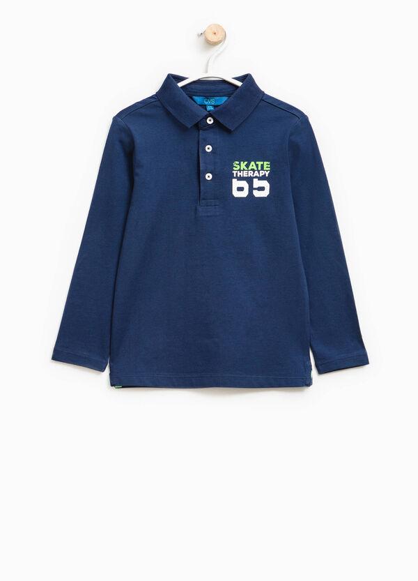 100% cotton printed polo shirt | OVS