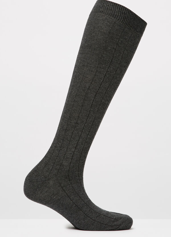Solid colour striped long socks | OVS