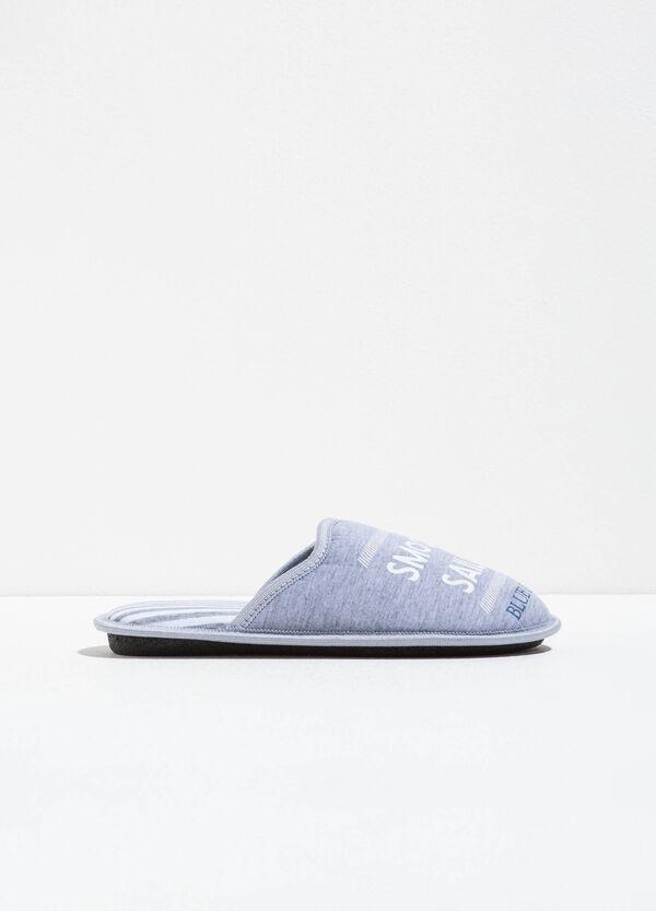Zapatillas de casa de rayas con motivo de texto | OVS