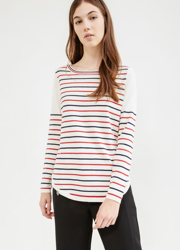 Pullover cotone stretch a righe | OVS