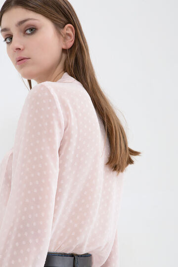 Blouse with bow, Light Pink, hi-res