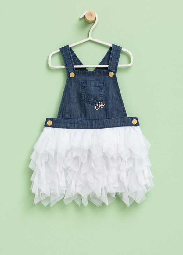 Denim dress with tulle skirt | OVS