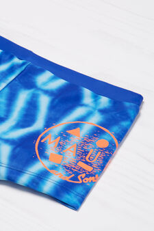 Patterned swim boxer shorts by Maui and Sons, Blue, hi-res