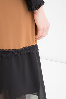 Two-tone midi skirt, Multicolour, hi-res