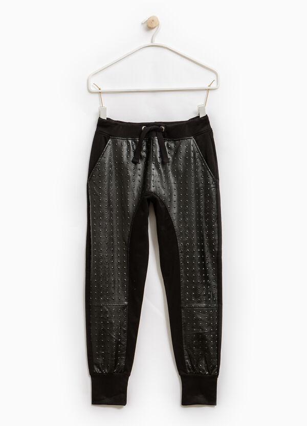 Pantaloni tuta puro cotone con borchie | OVS