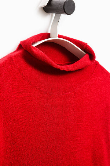 Smart Basic T-shirt with high neck, Red, hi-res