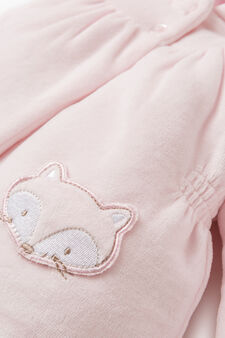 Jacket with double animal pockets, Pink, hi-res
