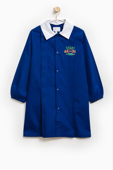 Smock with double collar and embroidery, Royal Blue, hi-res