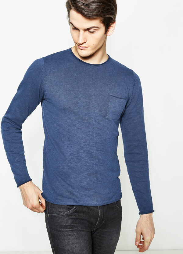 100% cotton pullover with pocket | OVS