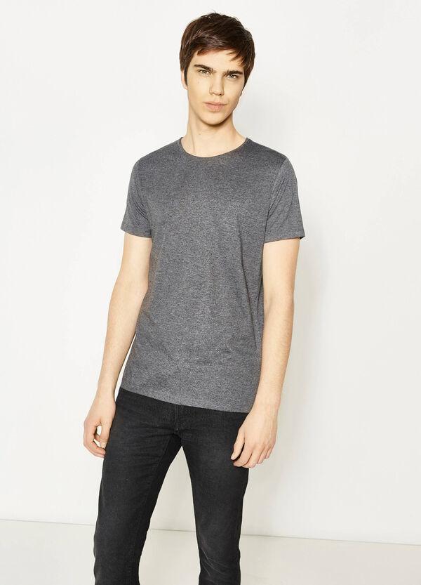 Camiseta en mezcla de algodón en color liso   OVS