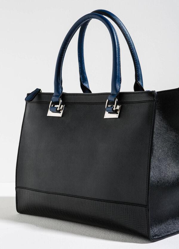 Handbag with snakeskin-look edges | OVS