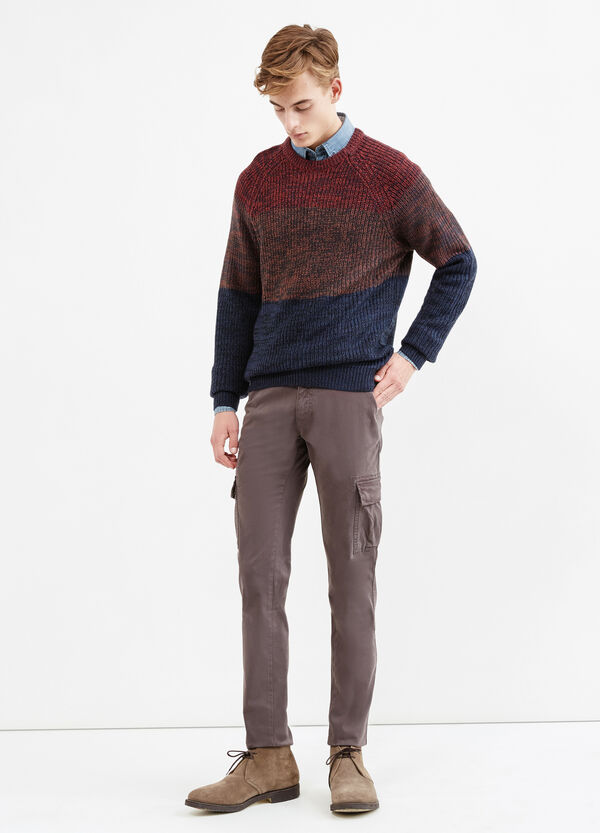 Solid colour  stretch cotton chino trousers | OVS