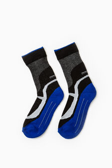 Two-pair pack OVS Active Sport Training socks, Light Blue, hi-res