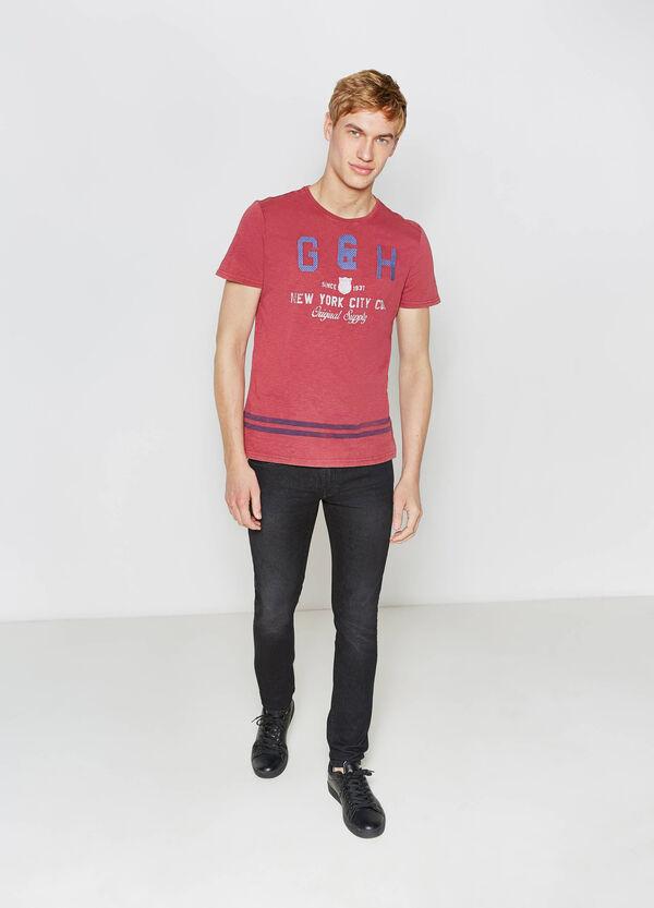 T-shirt cotone con stampa e ricami G&H | OVS