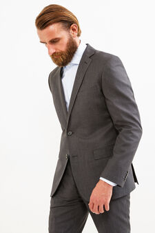 Elegant suit with regular fit, Dark Grey, hi-res