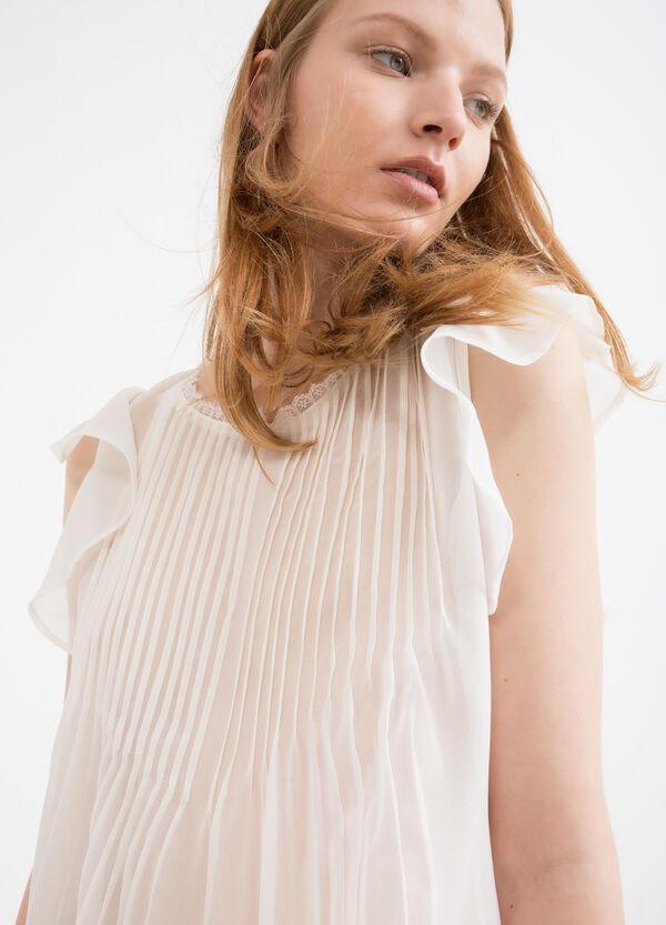 Blusa semitrasparente plissettata | OVS