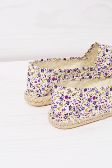 Floral patterned espadrilles, White/Purple, hi-res