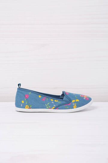 Slip-on fantasia floreale, Blu/Giallo, hi-res
