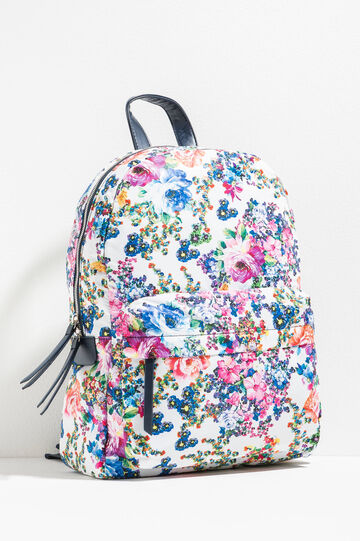 Backpack with all-over floral print