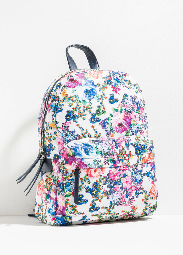 Backpack with all-over floral print | OVS