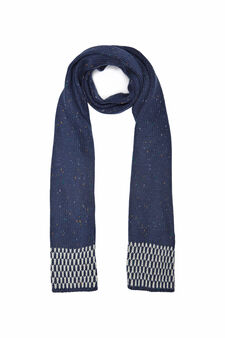 Knitted scarf., Cornflower Blue, hi-res
