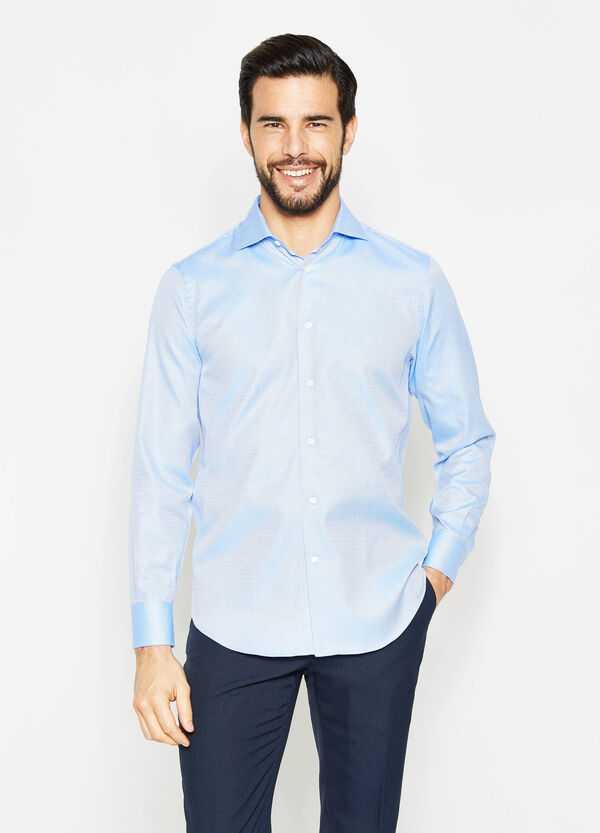 Regular-fit micro-diamond formal shirt | OVS