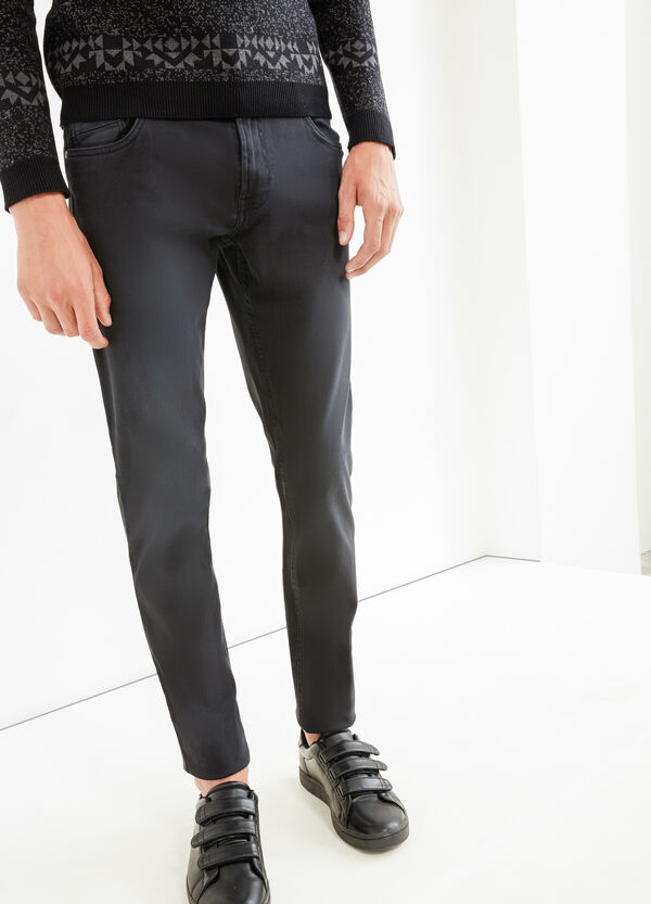 Solid colour skinny-fit trousers | OVS