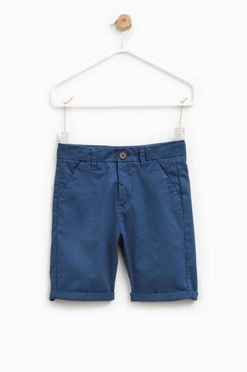 100% cotton Bermuda shorts, Navy Blue, hi-res