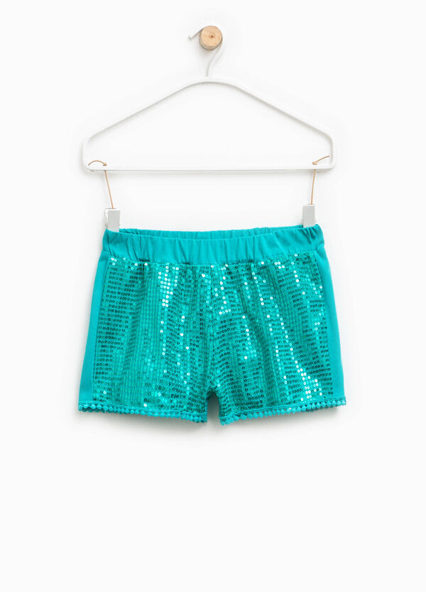 Shorts with sequins and trim | OVS