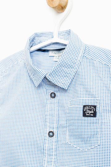 Camisa de lunares en algodón 100%, Blanco, hi-res